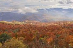 View of autumn Caucasus mountain Royalty Free Stock Photos