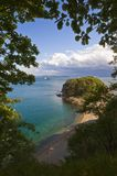 View of the autumn coast on a bright day. Stock Images