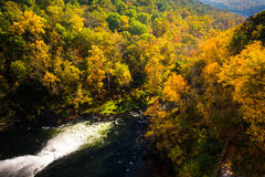View of autumn color along the Gunpowder River from Prettyboy Da. M, in Baltimore County, Maryland Stock Image
