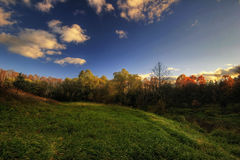 View of  autumn hill Royalty Free Stock Photo