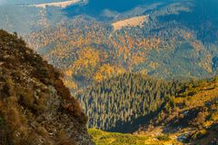 Autumn evening in the Carpathians royalty free stock images