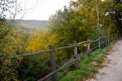 View of the autumn nature of Umbria in Italy . Stock Photo