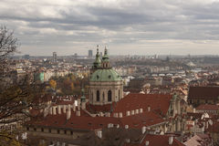 The view of the autumn Prague Royalty Free Stock Photography