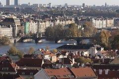 The view of the autumn Prague Royalty Free Stock Photos