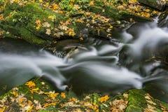 View of autumn waterfalls Stock Photo