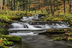 View of autumn waterfalls Royalty Free Stock Image