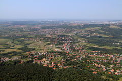 View from Avala tower Stock Photography