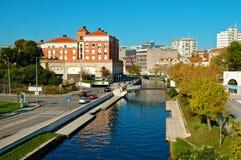 View of Aveiro town Royalty Free Stock Image