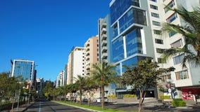 View of the Avenida República de El Salvador in the north of the city of Quito Stock Image