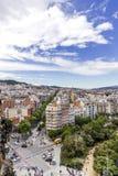 View on avenue de Gaudi. And plaça de Gaudi from above Stock Photography
