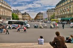 View- Avenue De L'Opera parfaite Paris photos stock