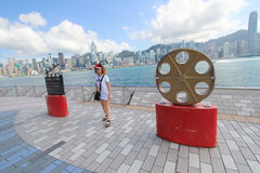 View of The Avenue of Stars in Hong Kong Royalty Free Stock Photos
