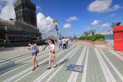 View of The Avenue of Stars in Hong Kong Royalty Free Stock Photo