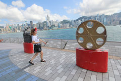 View of The Avenue of Stars in Hong Kong Royalty Free Stock Images
