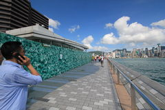 View of The Avenue of Stars in Hong Kong Stock Photography