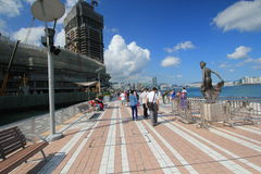 View of The Avenue of Stars in Hong Kong Stock Photo