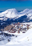 View of the Avoriaz, France. View of the Avoriaz, Portes du Soleil, France Royalty Free Stock Image