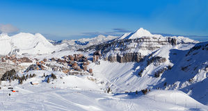 View of the Avoriaz, Portes du Soleil. France Stock Images