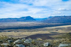 Patagonian landscape as seen from Cerro Frías royalty free stock photography