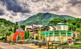 View of Ax-les-Thermes town - France stock photos
