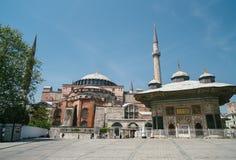 A view of Aya Sofia. Istanbul. Historic Landmark. Impressive tourist attraction royalty free stock photo