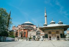 A view of Aya Sofia. Istanbul. Historic Landmark. Impressive tourist attraction royalty free stock images