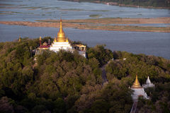 View of Ayeyarwady river from Sagaing hill,Myanma. Royalty Free Stock Images