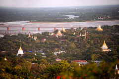 View of Ayeyarwady river from Sagaing hill,Myanma. Stock Photography