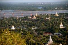View of Ayeyarwady river from Sagaing hill,Myanmar Royalty Free Stock Photo