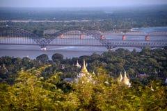 View of Ayeyarwady river from Sagaing hill,Myanmar Stock Photos