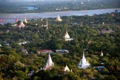 View of Ayeyarwady river from Sagaing hill,Myanmar. Stock Image