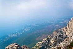 View from AyPetri mountain Royalty Free Stock Photo
