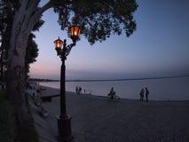 View of the Azov sea urban waterfront Stock Image