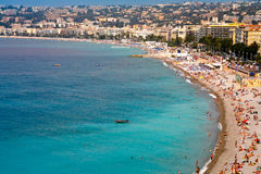 View on Azure coast in Nice, France Royalty Free Stock Image