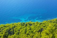 View of the azure sea coast Royalty Free Stock Photos