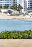 A view of a azzure water and Nissi beach in Aiya Napa, Cyprus Stock Image