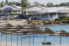 A view of a azzure water and Nissi beach in Aiya Napa, Cyprus Stock Images