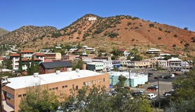 A View of the 'B' Over Bisbee, Arizona Stock Photos