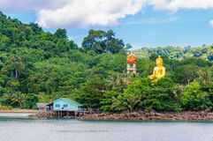 View of Baan Ao Salad port and fishing village on Koh Kood Island, Thailand Royalty Free Stock Photography