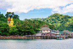 View of Baan Ao Salad port and fishing village on Koh Kood Island, Thailand Royalty Free Stock Images