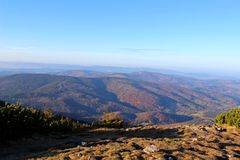 View from Babia Gora, Beskidy, Poland Royalty Free Stock Images