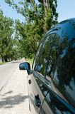 View from back side of the car in the middle day Stock Photography