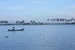 View of Backwaters of Kerala, India. Stock Image