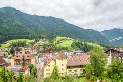 View at the Bad Town Ortisei in Italy Dolomites Stock Photos