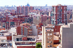 View of Badalona and Barcelona Royalty Free Stock Image