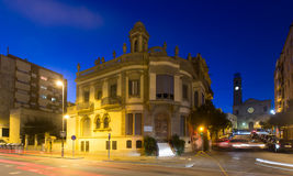 View of Badalona  in evening. Barcelona, Spain Stock Photos