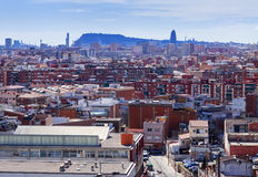 View of Badalona from high point. Barcelona Royalty Free Stock Photo