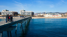 View of Badalona from sea Stock Image