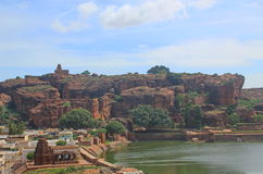 View from Badami Cave temples, Karnataka, India Stock Photos