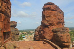 View from Badami Cave temples, Karnataka, India Royalty Free Stock Image